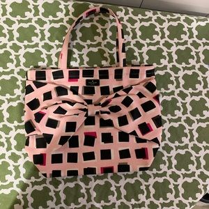 Kate Spade On Purpose canvas bow tote